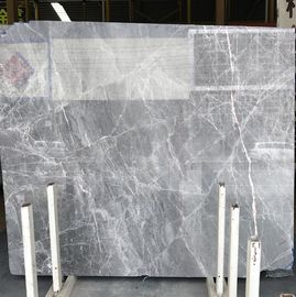 DORA grey cloud Grey gray gris/blue Natural Marble Tile and slab For Flooring Layout Book Matched