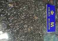 Black Gold Polished Granite Tiles , High Density Granite Countertop Slabs