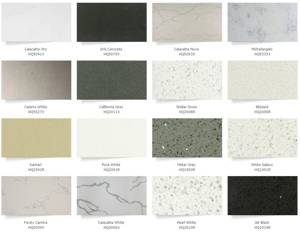 Gray Quartz Kitchen Countertops , Artificial Solid Surface Quartz Countertops
