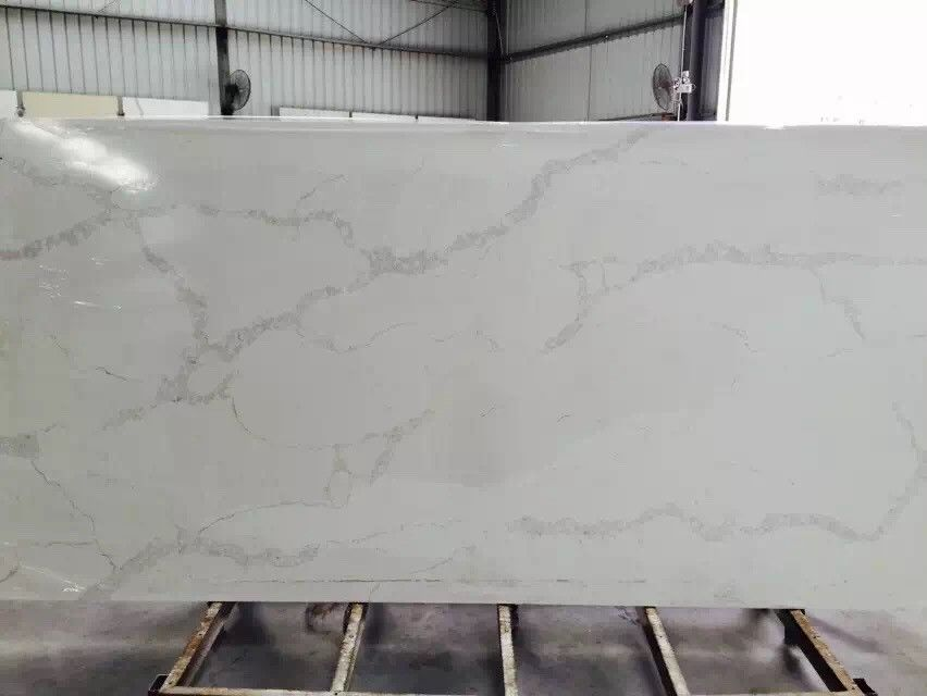 Calacatta Gold Quartz Stone Slab 3000 X 1400mm / Customized Cut Size
