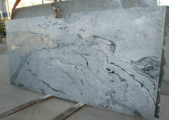 Grey Veins Natural Stone Slabs Wall Tiles 2.95 High Granite Density