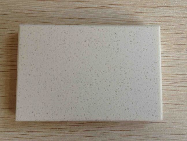 White Sand Color Quartz Stone Countertops 93% Quartz 7% Resin Material