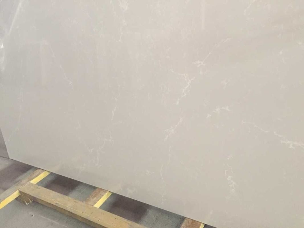 Prefab Quartz Stone Countertops For Home / Hotel Various Edge Optional