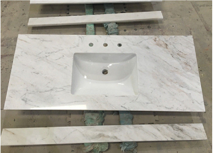 White Carrara Marble Stone Countertops Polished / Other Finish Surface